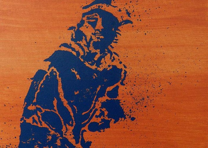 Tennis Greeting Card featuring the painting Tennis Splatter by Ken Pursley