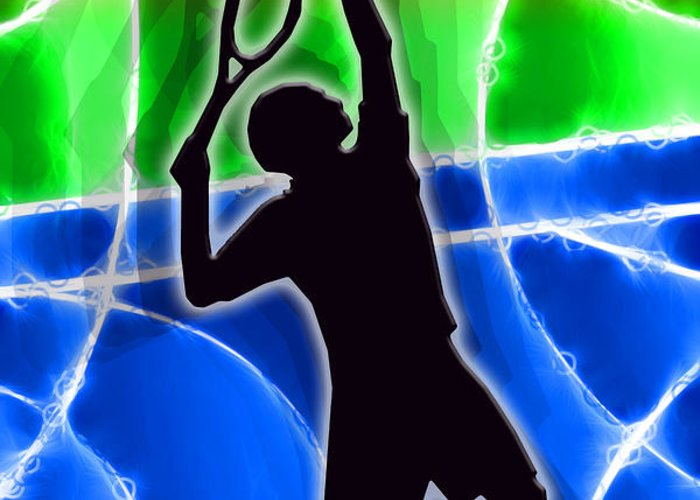 Tennis Greeting Card featuring the digital art Tennis by Stephen Younts