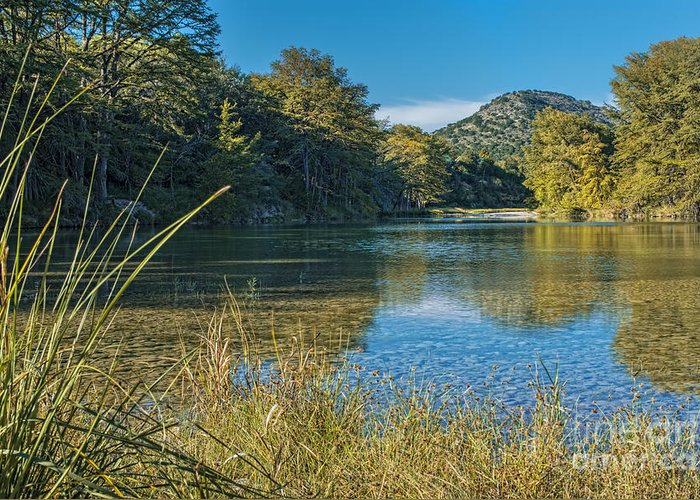 Texas Hill Country Greeting Card featuring the photograph Texas Hill Country - The Frio River by Andre Babiak