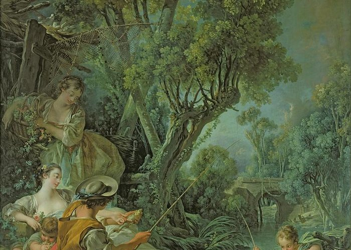 The Greeting Card featuring the painting The Angler by Francois Boucher