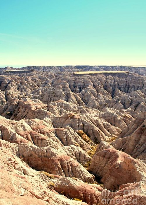 Badlands Greeting Card featuring the photograph The Badlands by Brent Parks