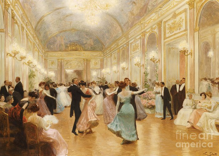 Ball Greeting Card featuring the painting The Ball by Victor Gabriel Gilbert