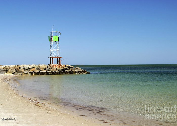 Jetty Greeting Card featuring the photograph The Bass River Jetty South Yarmouth Cape Cod Massachusetts by Michelle Wiarda