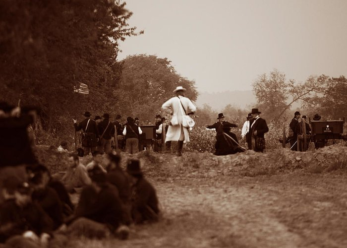 Civil War Greeting Card featuring the photograph The Battle Of Franklin by Mark Currier