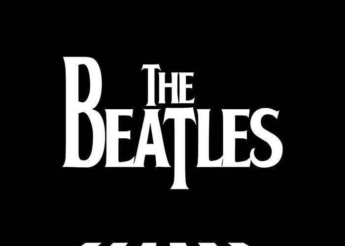 Artwork Greeting Card featuring the digital art The Beatles No.03 by Caio Caldas