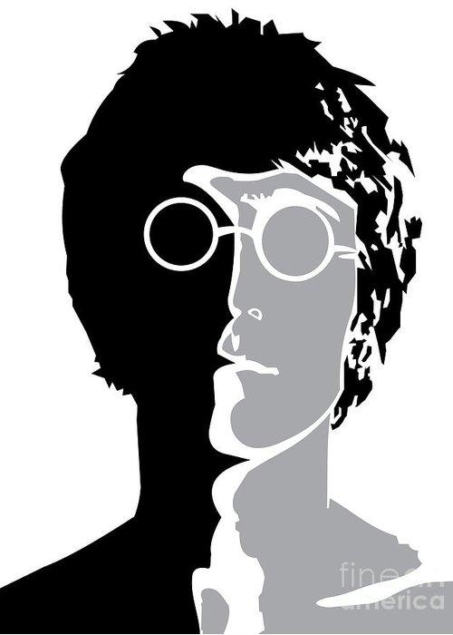 Artwork Greeting Card featuring the digital art The Beatles No.08 by Caio Caldas