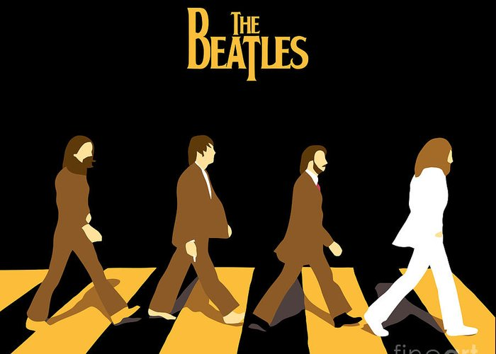 The Beatles Greeting Card featuring the digital art The Beatles No.19 by Caio Caldas