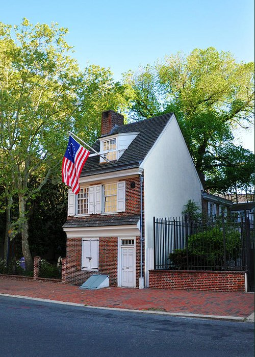 The Betsy Ross House Philadelphia Greeting Card featuring the photograph The Betsy Ross House Philadelphia by Bill Cannon