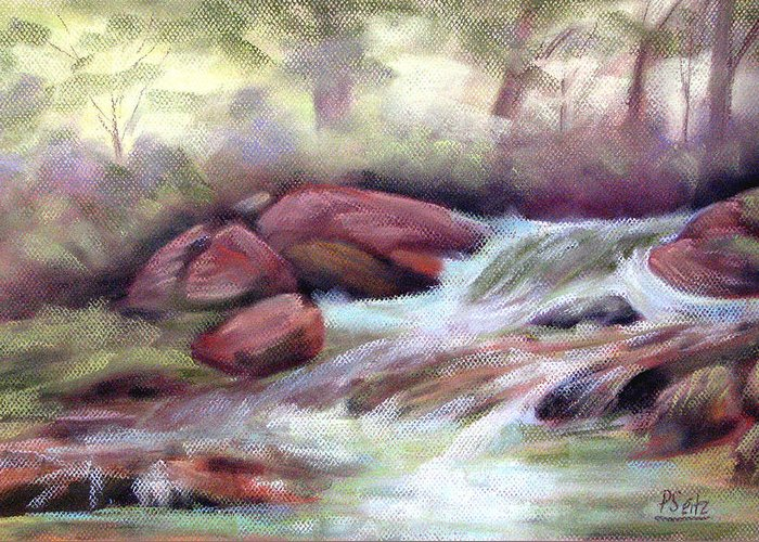 Patricia Seitz Greeting Card featuring the painting The Brook by Patricia Seitz