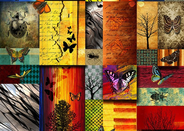 Alpine Greeting Card featuring the painting The Butterfly Effect by Ramneek Narang