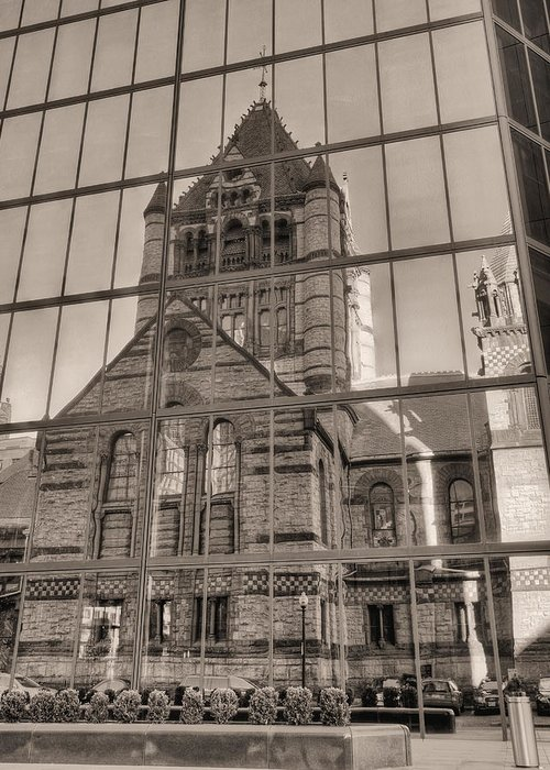 Boston Massachusetts Greeting Card featuring the photograph The Church by JC Findley