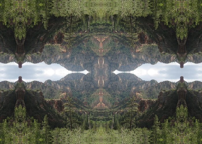 Landscape Greeting Card featuring the digital art The Creator Within by Filip Klein