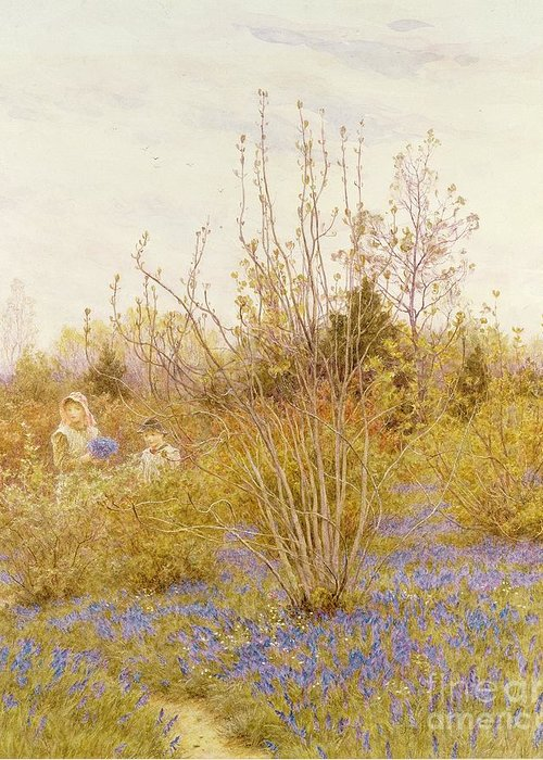 The Greeting Card featuring the painting The Cuckoo by Helen Allingham