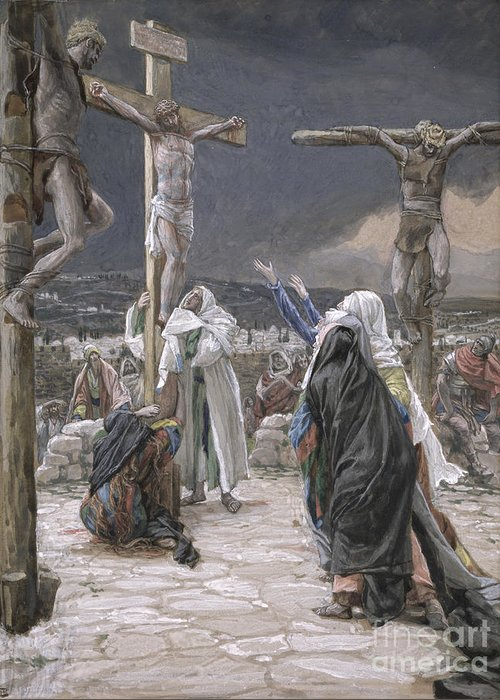The Greeting Card featuring the painting The Death Of Jesus by Tissot