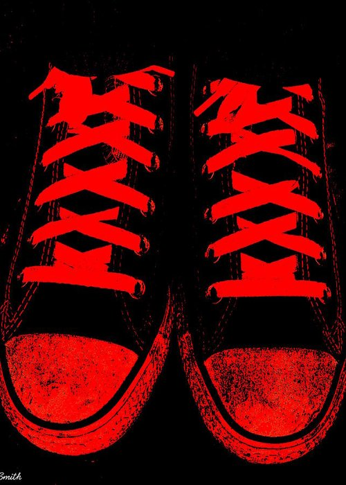 The Devil Wears Converse Greeting Card featuring the photograph The Devil Wears Converse by Ed Smith