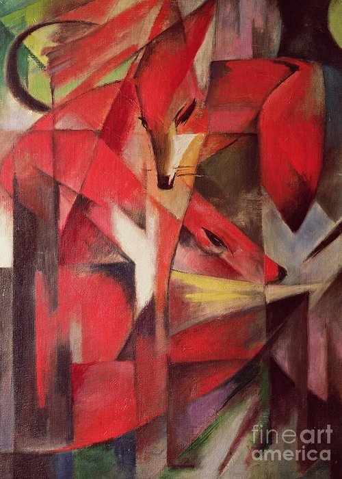 Bal41124 Greeting Card featuring the painting The Fox by Franz Marc