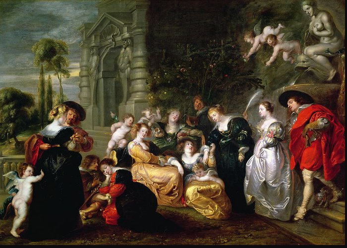 The Greeting Card featuring the painting The Garden Of Love by Peter Paul Rubens
