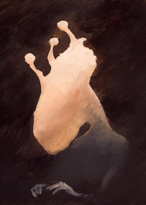 Ghost Greeting Card featuring the painting The Ghost Of Brackish Lake by Ethan Harris