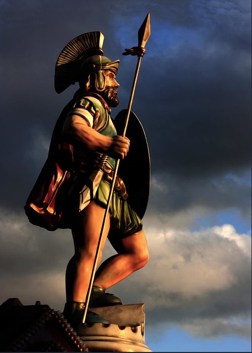Gladiator Greeting Card featuring the photograph The Gladiator by Barbara White