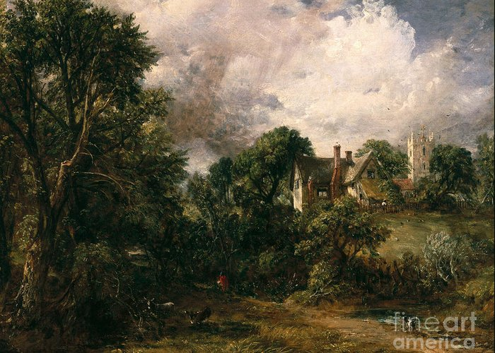 The Greeting Card featuring the painting The Glebe Farm by John Constable