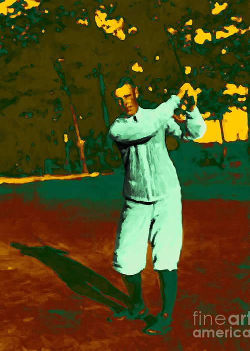 Sport Greeting Card featuring the photograph The Golfer - 20130208 by Wingsdomain Art and Photography