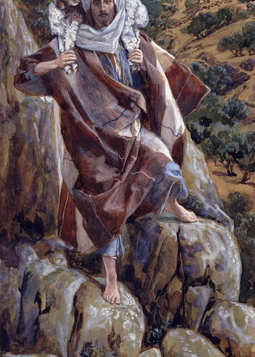 The Greeting Card featuring the painting The Good Shepherd by Tissot