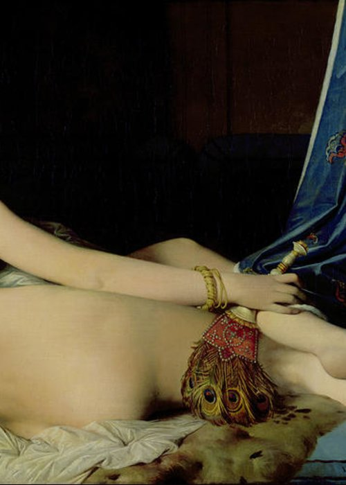 The Greeting Card featuring the painting The Grande Odalisque by Ingres