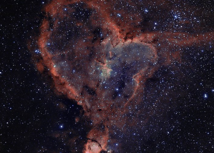 Astronomy Greeting Card featuring the photograph The Heart by Charles Warren