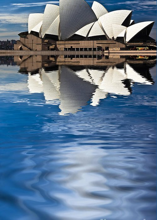 Sydney Opera House Sydney Harbour Greeting Card featuring the photograph The Iconic Sydney Opera House by Avalon Fine Art Photography