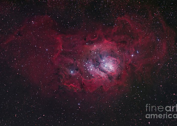 Universe Greeting Card featuring the photograph The Lagoon Nebula by Robert Gendler