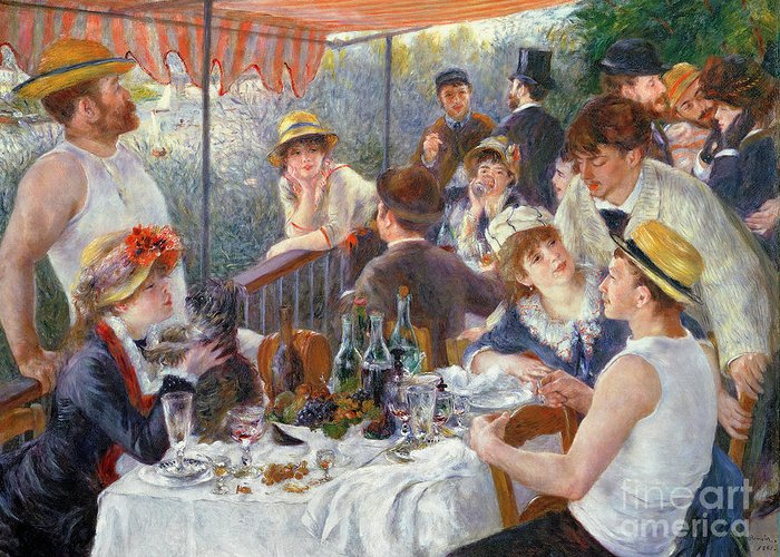 The Greeting Card featuring the painting The Luncheon Of The Boating Party by Pierre Auguste Renoir