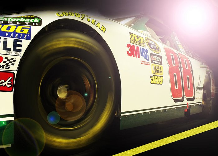 Nascar Greeting Card featuring the photograph The Need For Speed 88 by Kenneth Krolikowski