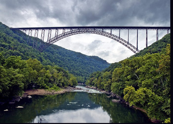 New Greeting Card featuring the photograph The New River Gorge Bridge In West Virginia by Brendan Reals
