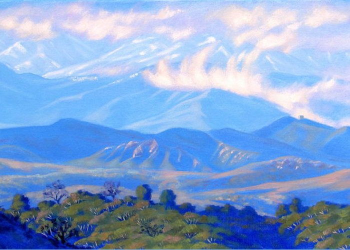 Painting Greeting Card featuring the painting The Passing Storm by Elena Roche