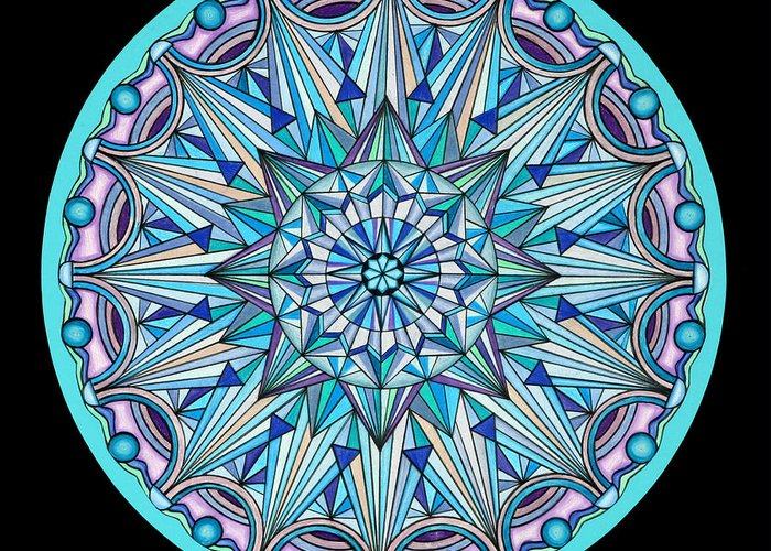 Mandala Greeting Card featuring the painting The Peace Within by Marcia Lupo