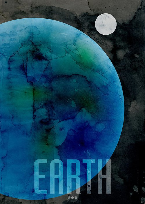 Earth Greeting Card featuring the digital art The Planet Earth by Michael Tompsett