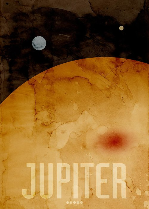 Jupiter Greeting Card featuring the digital art The Planet Jupiter by Michael Tompsett