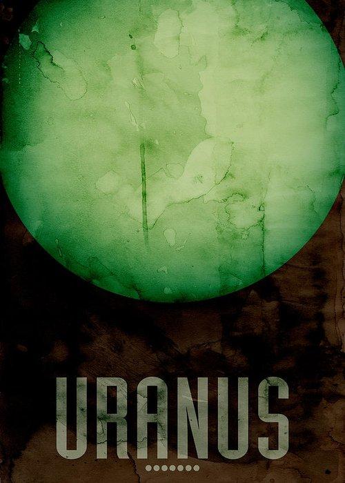 Uranus Greeting Card featuring the digital art The Planet Uranus by Michael Tompsett