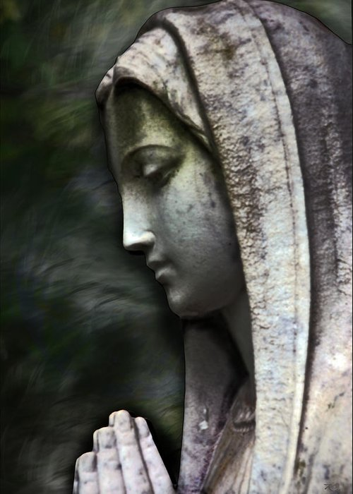 Mother Mary Greeting Card featuring the photograph The Prayer by Kelly Rader