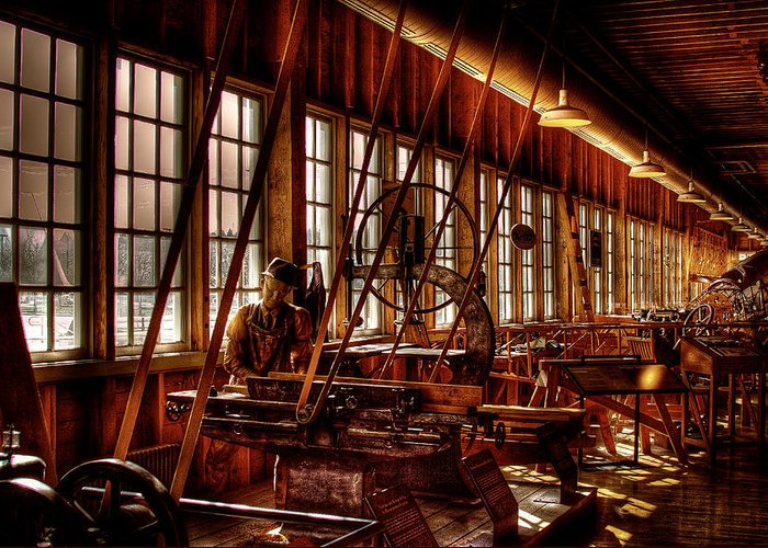 David Patterson Greeting Card featuring the photograph The Red Barn Of The Boeing Company Iv by David Patterson