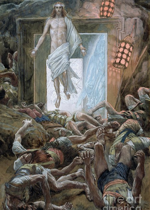 The Resurrection Greeting Card featuring the painting The Resurrection by Tissot