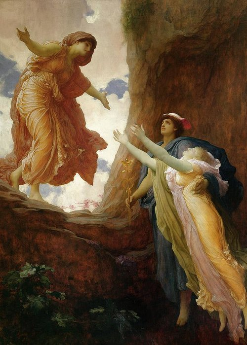 The Return Of Persephone Greeting Card featuring the painting The Return Of Persephone by Frederic Leighton