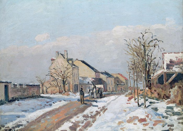 The Greeting Card featuring the painting The Road From Gisors To Pontoise by Camille Pissarro