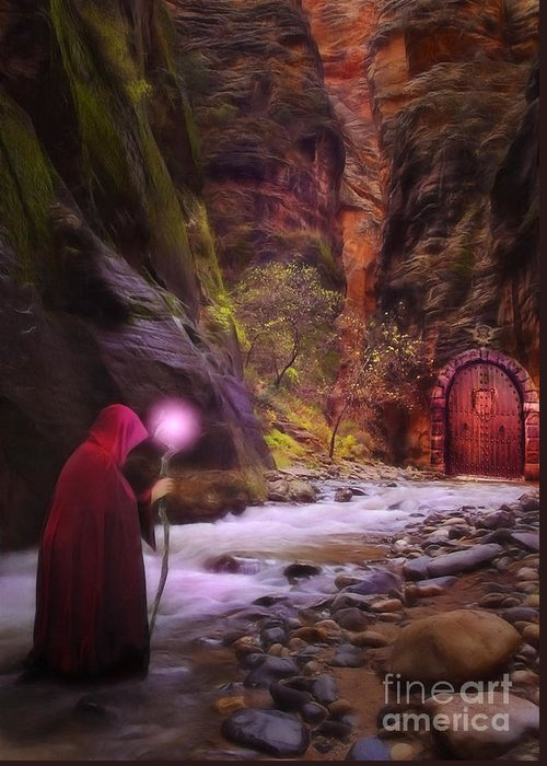 Enchantment Greeting Card featuring the digital art The Road Less Traveled by John Edwards