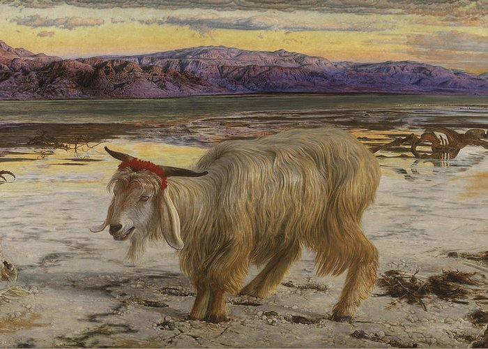 William Holman Hunt Greeting Card featuring the painting The Scapegoat by William Holman Hunt