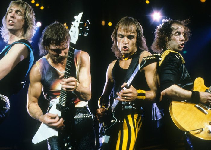 The Scorpions Greeting Card featuring the photograph The Scorpions by Rich Fuscia