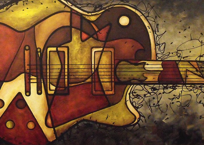 Gibson Greeting Card featuring the painting The Shape That Defines Us by Darlene Keeffe