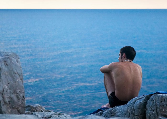 Sicily Greeting Card featuring the photograph The Sicilian by Neil Buchan-Grant