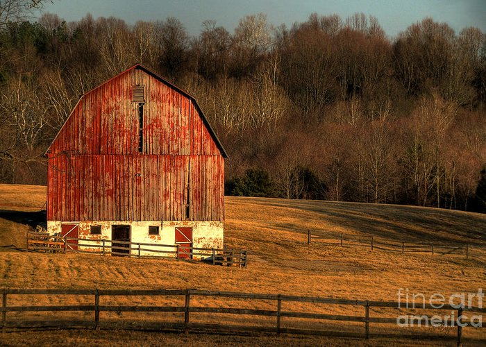 Barn Greeting Card featuring the photograph The Simple Life by Lois Bryan