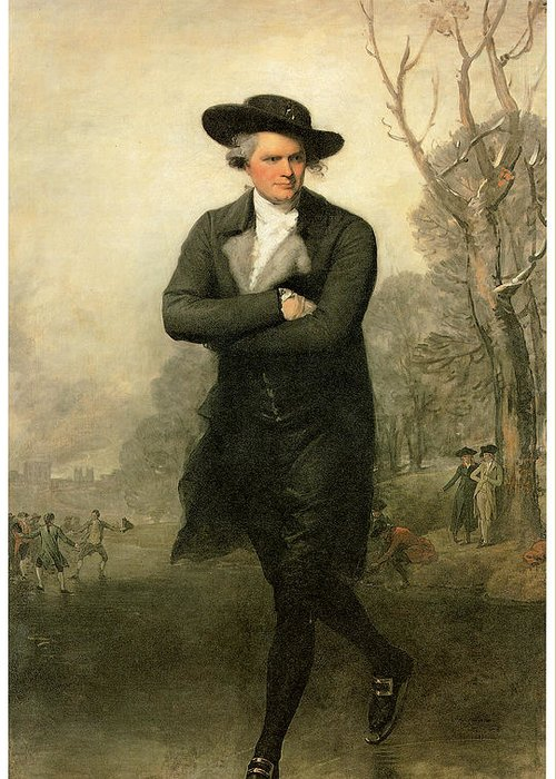 Gilbert Stuart Greeting Card featuring the painting The Skater Portriat Of William Grant by Gilbert Stuart